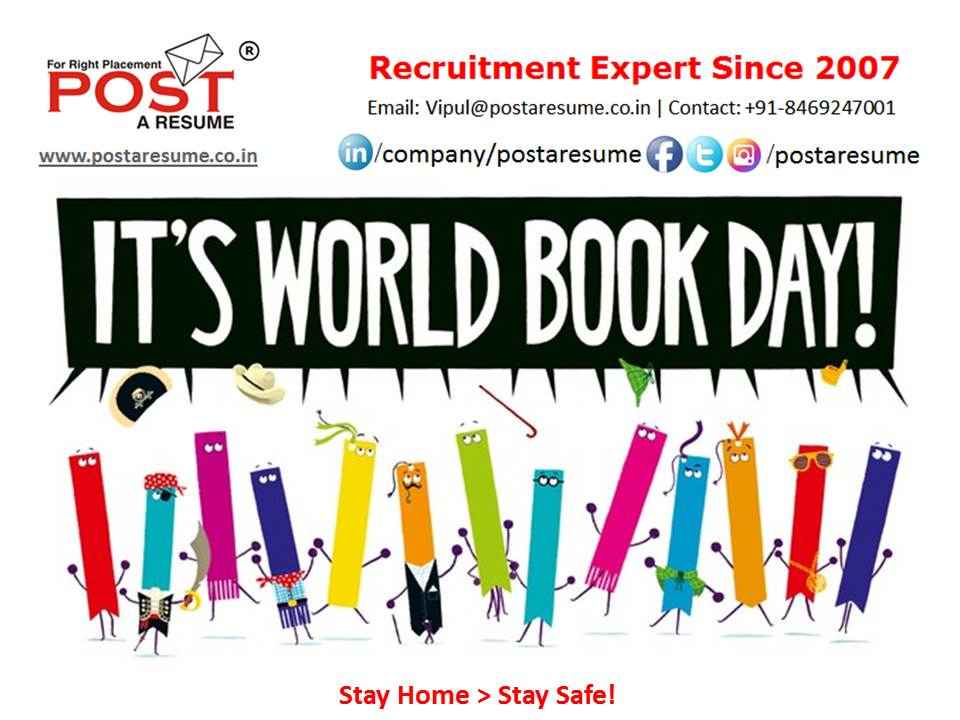 World book day - post a resume - vipul m mali - vipul the wondeful