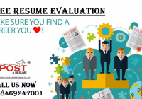 Free Resume Eveluation Service by POST A RESUME HR Consultancy