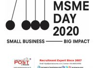 MSME Day 2020 by post a resume hr consultancy
