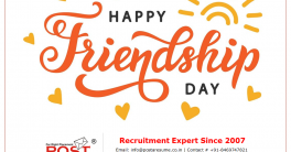 Happy Friendship Day from POST A RESUME HR Consultancy Placement Agency, Ahmedabad, Gujarat, India